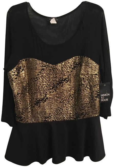 Preload https://img-static.tradesy.com/item/24397170/fashion-to-figure-black-and-gold-no-blouse-size-26-plus-3x-0-1-650-650.jpg