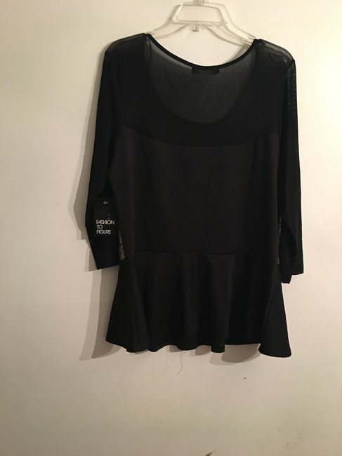Fashion to Figure Top Black and Gold Image 1