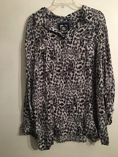 Cato Button Down Shirt Gray/Snakeskin Image 1