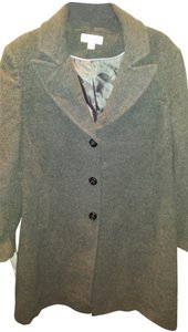 Preston & York Wool Blend Fully Lined Button Front Trench Coat