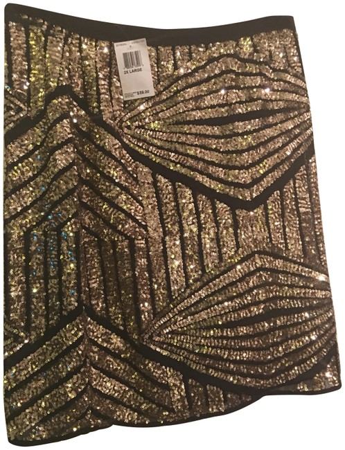 Item - Black and Gold Xs1583sq Skirt Size 22 (Plus 2x)