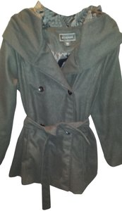 Metaphor Belted Hooded Button Pea Coat