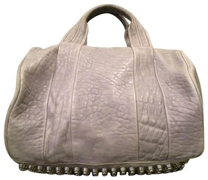 Alexander Wang Rockie Rocco Studded Crossbody Tote in Grey