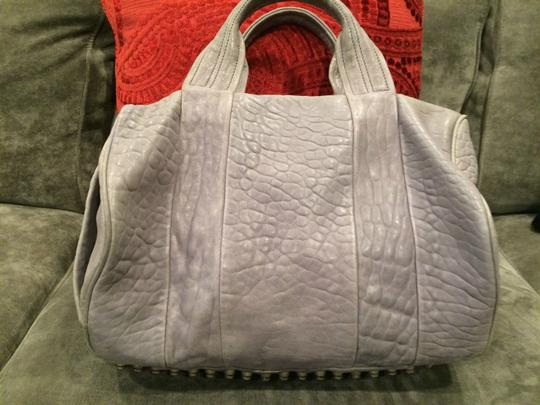 Alexander Wang Rockie Rocco Studded Crossbody Tote in Grey Image 8
