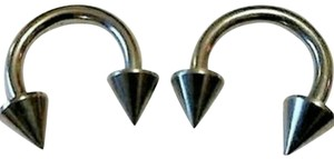 unknown Set of 2 Horseshoe Spike Barbell Rings