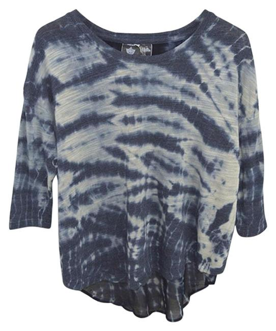 Preload https://img-static.tradesy.com/item/24397413/young-fabulous-and-broke-bluewhite-tie-dye-knit-123-132-tee-shirt-size-4-s-0-1-650-650.jpg