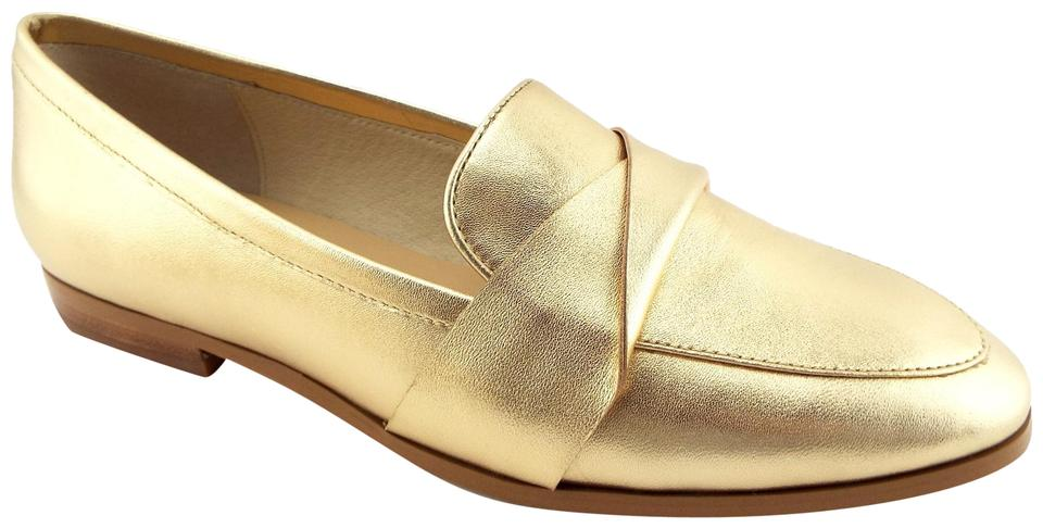 27ff6aee6e0 Kate Spade Pointed Penny Loafer Slip On Satchi Saatchi Gold Flats Image 0  ...