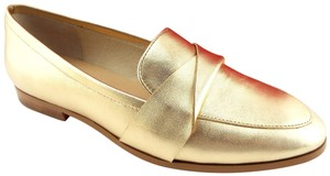 Kate Spade Pointed Penny Loafer Slip On Satchi Saatchi Gold Flats