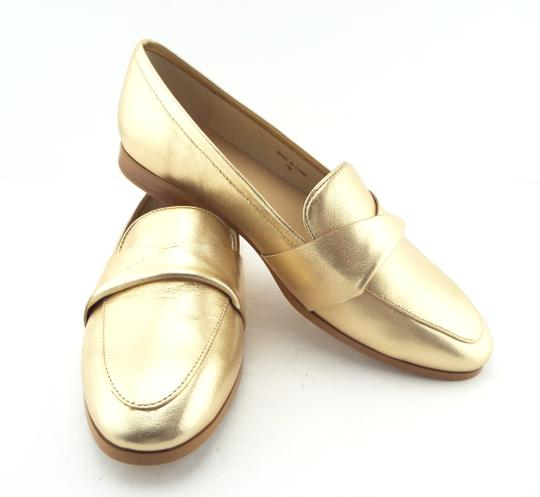 Kate Spade Pointed Penny Loafer Slip On Satchi Saatchi Gold Flats Image 1