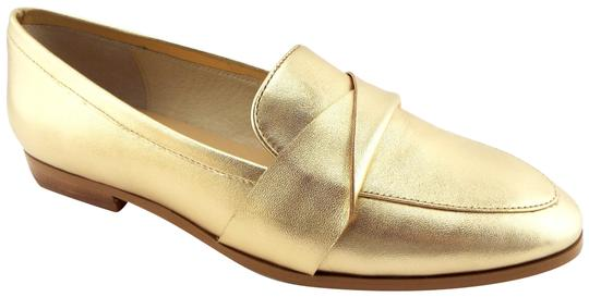Kate Spade Pointed Penny Loafer Slip On Satchi Saatchi Gold Flats Image 2