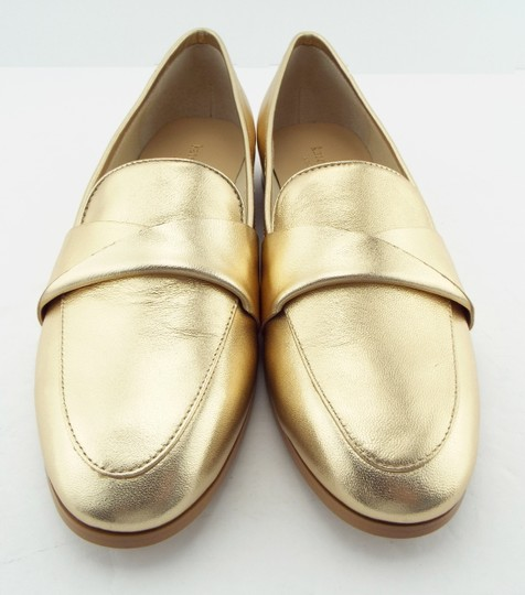 Kate Spade Pointed Penny Loafer Slip On Satchi Saatchi Gold Flats Image 3