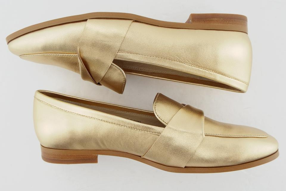 b6a4842be00 Kate Spade Pointed Penny Loafer Slip On Satchi Saatchi Gold Flats Image 8.  123456789