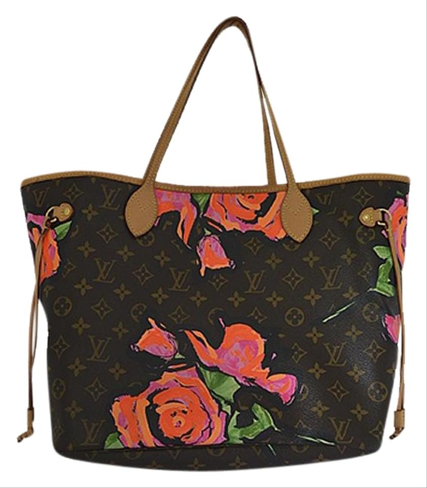 Louis Vuitton Neverfull Stephen Sprouse Rose Limited Edition Brown ... 64a356e053fce