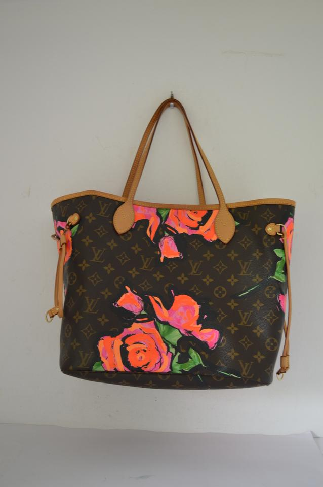Louis Vuitton Neverfull Stephen Sprouse Rose Limited Edition Brown Canvas  Leather Shoulder Bag - Tradesy cd96ccfcf502f