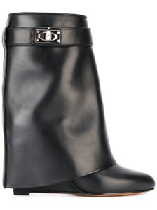 Givenchy Shark Lock Tooth Midcalf Leather black Boots