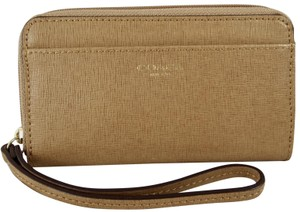 Coach Leather 886382726178 Wristlet in Toffee