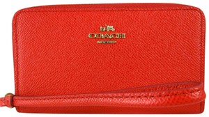 Coach Leather 888067678338 Wristlet in Red