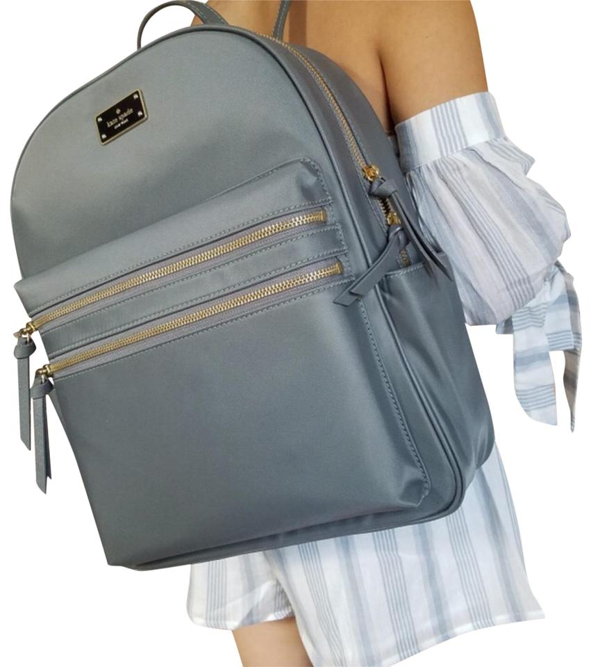 find lowest price convenience goods shop for original Kate Spade New York Large Bradley Wilson Smokypearl Grey Backpack 35% off  retail