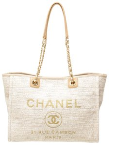 Chanel Tote in Cream and Tan