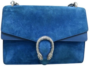 cdb997620 Gucci GG Supreme Dionysus Medium Deep Cerulean Suede Shoulder Bag ...