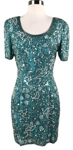 Oleg Cassini Fully Beaded Sequin Dress