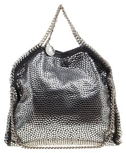 Stella McCartney Faux Leather Studded Tote in Metallic