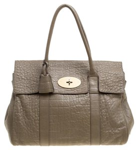 Mulberry Leather Suede Satchel in Brown