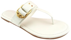 a7b650d3dfd Tory Burch White Double-ring T Logo Marsden Miller Reva Perfect Ivory  Sandals