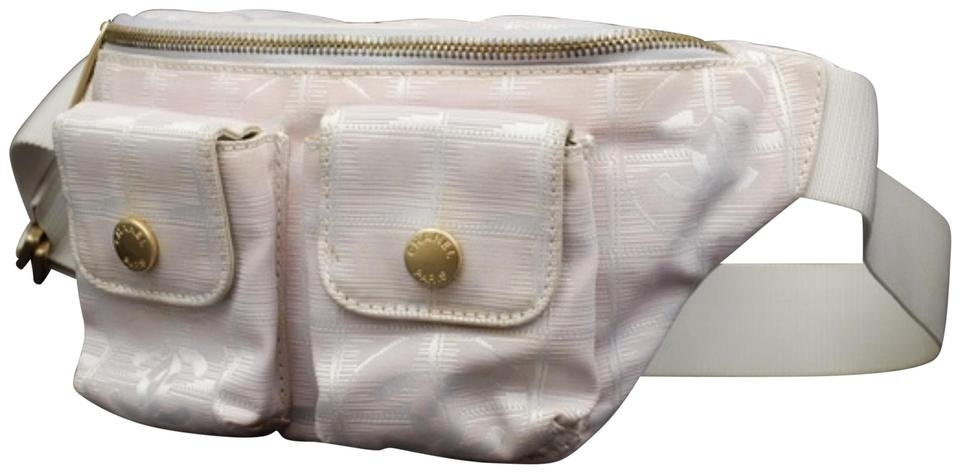 14d2480585c0 Chanel New Line Belt Fanny Pack Waist Pouch 232758 Pink Nylon Cross Body Bag