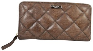 Kate Spade Leather Wallet 098689339887 Wristlet in FRENCH GREY