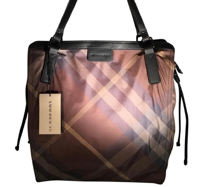 Item - Packable Check Sm Buckleightote Birch Brown Nylon Tote
