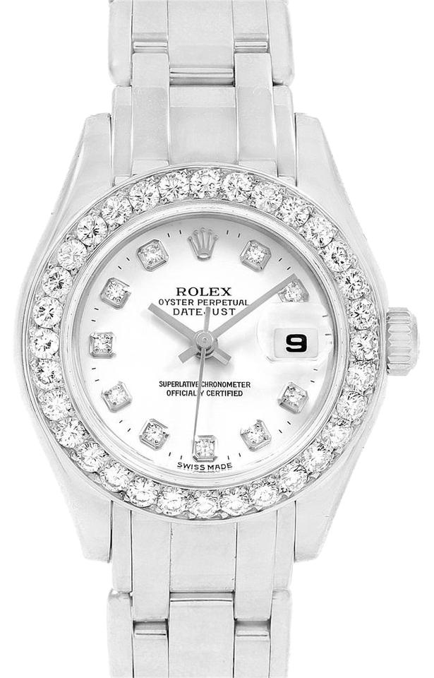 a21a57dd66bf Rolex Rolex Pearlmaster Masterpiece 18K White Gold Diamond Ladies 80299 ...