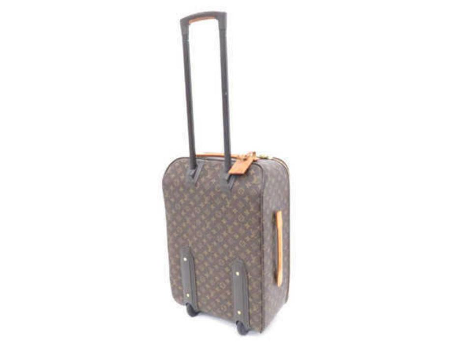 7e8a3c82cd9 Louis Vuitton Monogram Pegase 55 Legere Rolling Luggage 232894 Brown Coated  Canvas Weekend Travel Bag - Tradesy