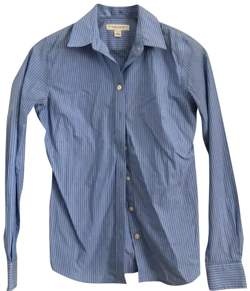 fb33d8e5 Banana Republic Blue Long Sleeve Fitted Button-down Top Size 2 (XS ...