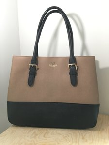 Kate Spade Tote in Tan and Navy Color Block