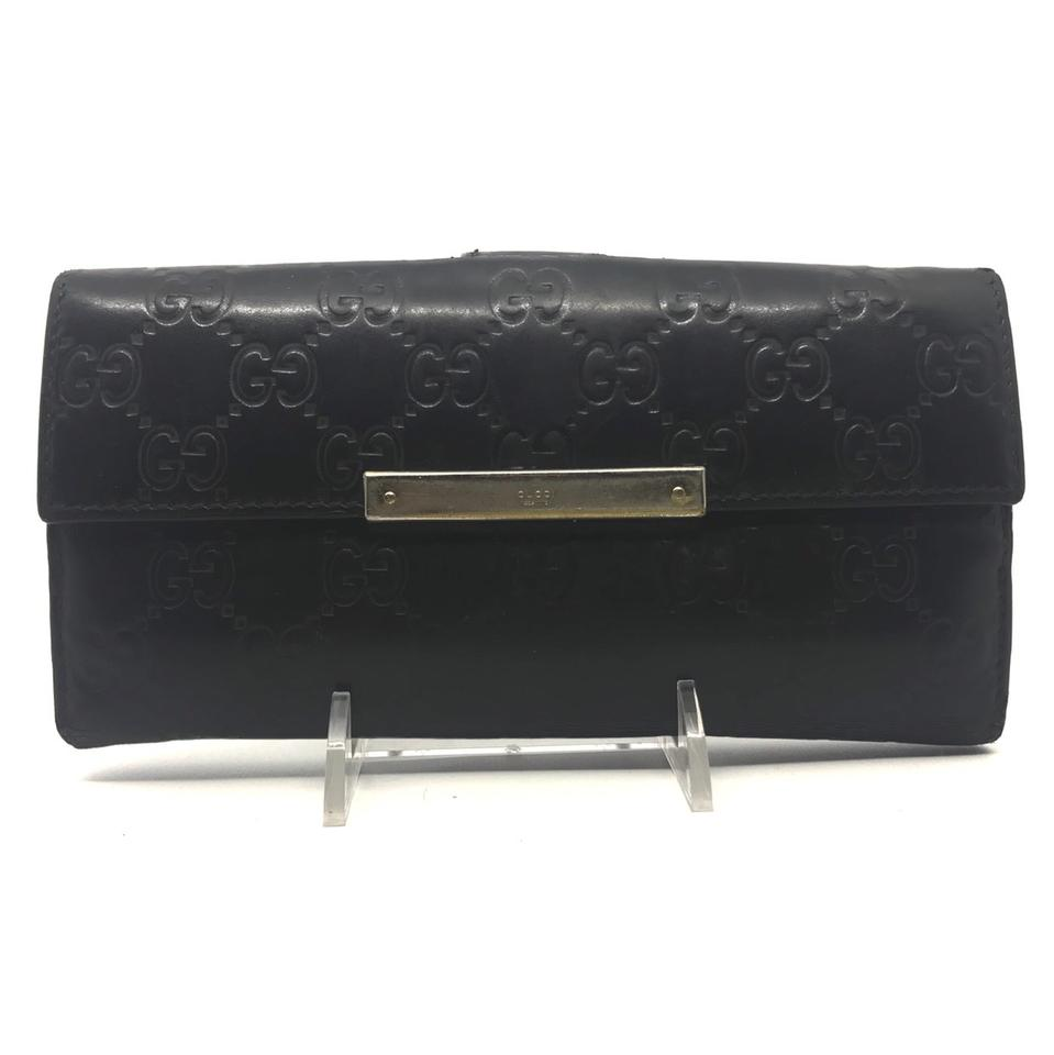 29c8d77de196 Gucci Black Gg Signature Long Wallet - Tradesy