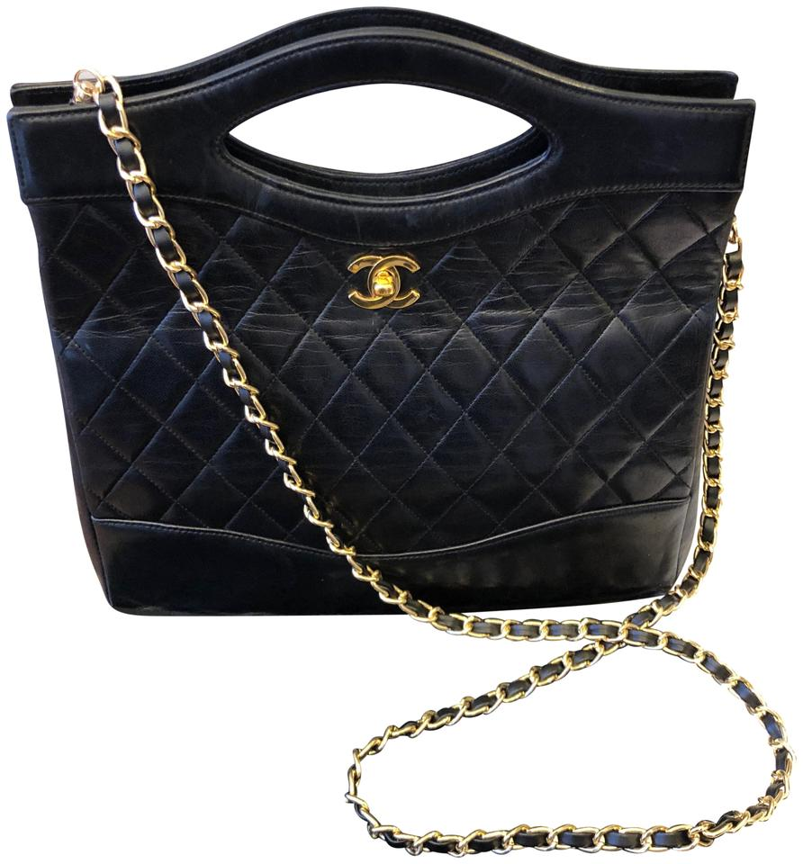 Chanel 31 Small Calfskin Shopping Black Leather Cross Body Bag 42 Off Retail