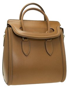 Alexander McQueen Leather Silhouette Suede Tote in Brown
