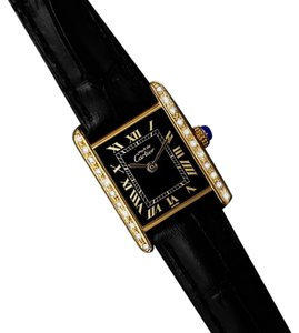 Cartier CARTIER Vintage Mens Tank Mechanical Watch - Gold Vermeil, 18K Gold ov