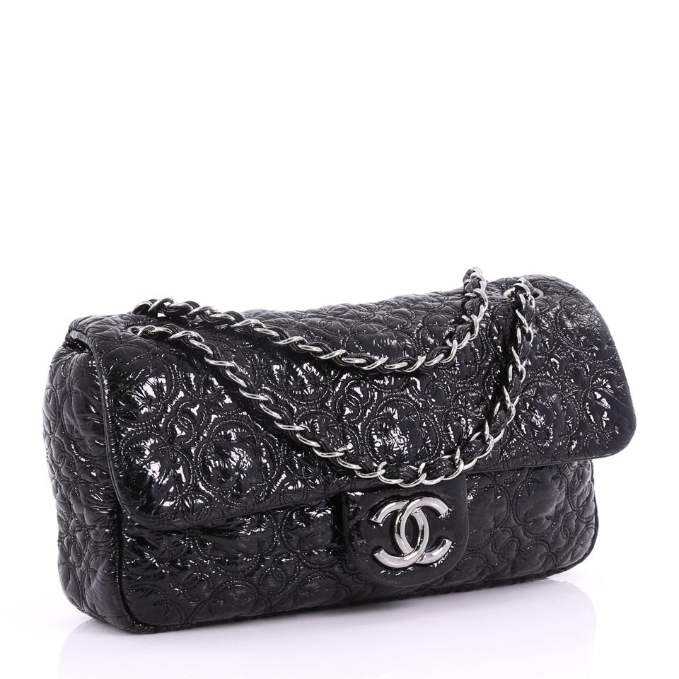 6e43e2c86754 Chanel Classic Flap Rock In Moscow Patent Medium Black Vinyl ...