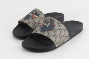 Gucci Multicolor Gg Supreme Wolf Slides Sandals Size US 8 Regular (M, B)