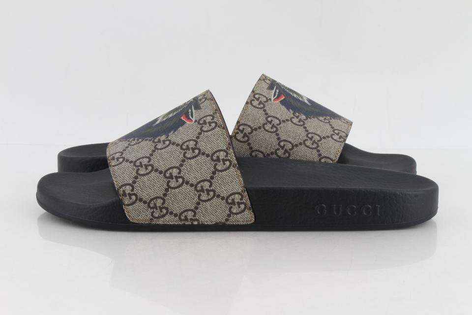 a5f2e9b1a69 Gucci Multicolor Gg Supreme Wolf Slides Sandals Size US 8 Regular (M ...