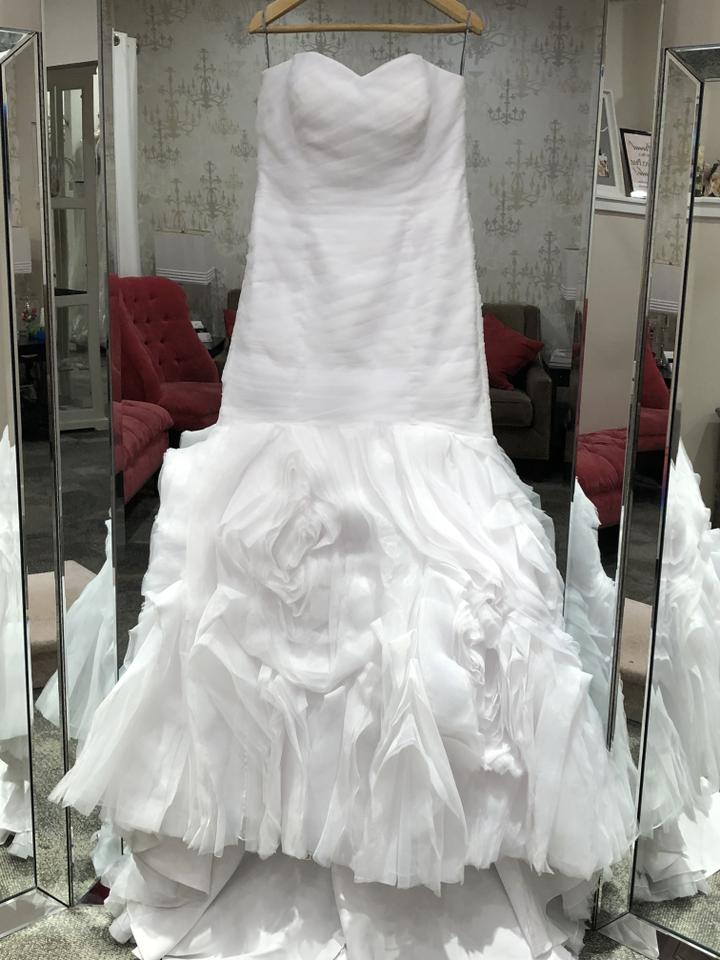 d77db75a76d4b Maggie Sottero White Organza Primrose Casual Wedding Dress Size 10 ...