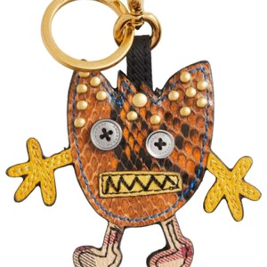 Burberry Python and Leather Mixed Media Burberry Monster Keychain Purse Charm