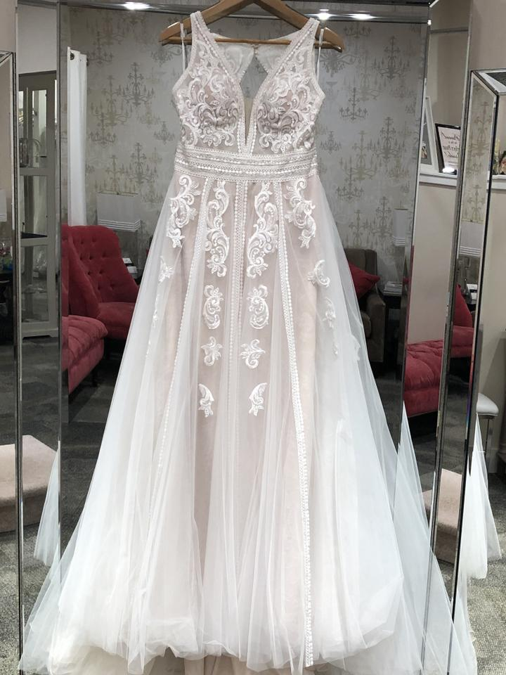 a0cae603310 Essense of Australia Ivory Over Miscoto Tulle D2607 Casual Wedding Dress