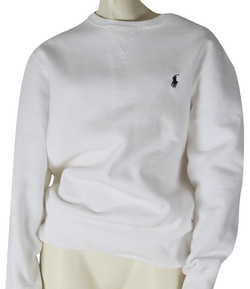 7254fd1f9 Polo Ralph Lauren White By Cotton Long Sleeve Sweatshirt Hoodie Size ...