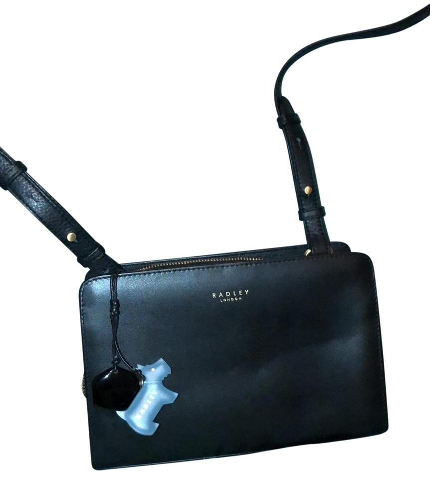 2a19ae98894a RADLEY LONDON Liverpool Street Medium Zip-top Black Smooth Leather Cross  Body Bag