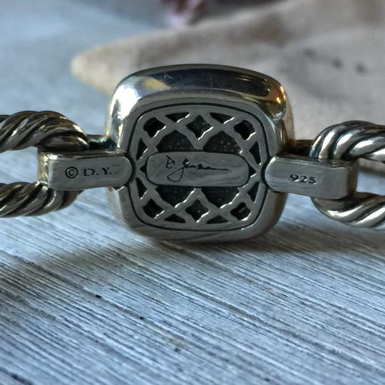 David Yurman Black Onyx Albion Double Cable Hinged Bracelet with Diamonds, 11mm stone/15mm wide $1,125