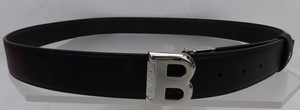 Bally Black Bising 35 Reversible Brown Leather Logo Adjustable Belt 110 44 Men's Jewelry/Accessory
