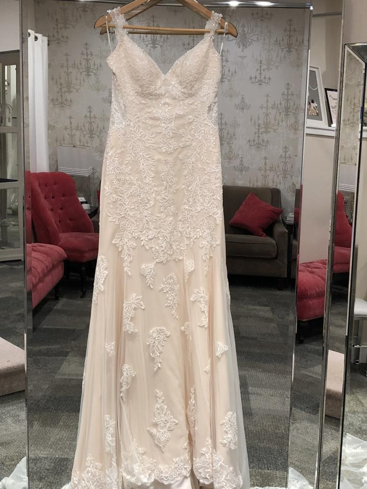 36c73a67cf48 Stella York Ivory Over Cafe Lace 6371 Casual Wedding Dress Size 6 (S ...